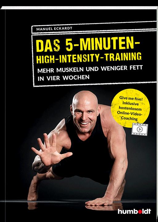 Das 5-Minuten-High-Intensity-Training von Manuel Eckardt, Cover mit freundlicher Genehmigung von humboldt
